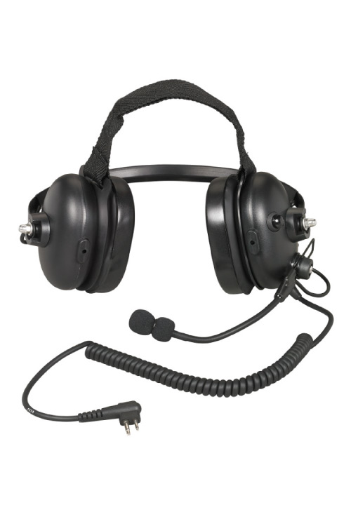 behind the neck dual muff headset