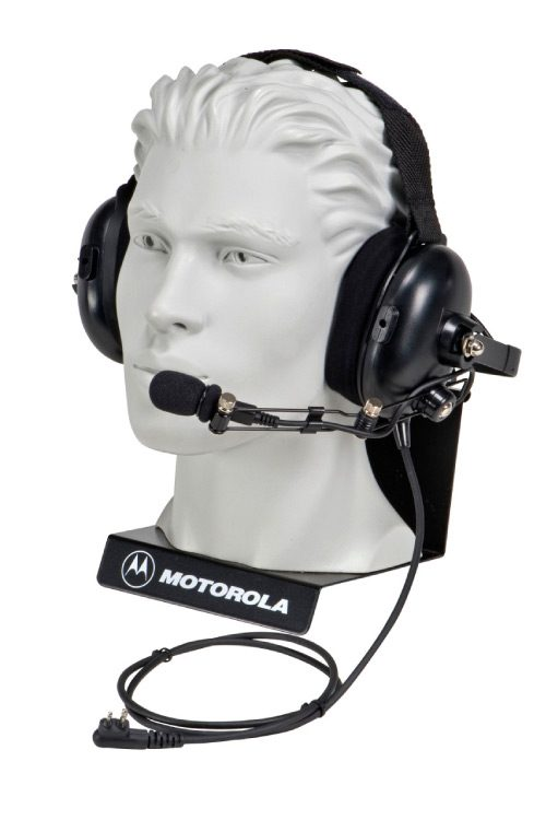 over the head dual muff headset